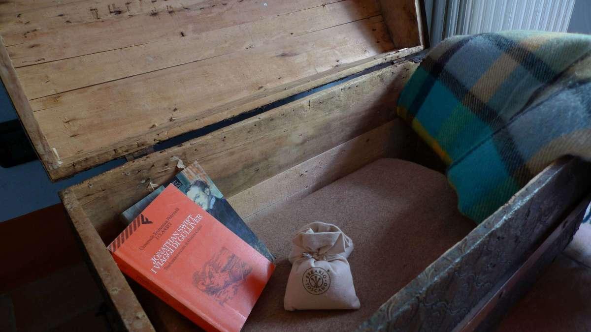 Baule libri nella Camera Borlotto